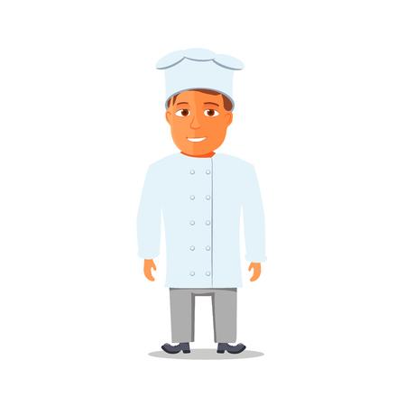 Cartoon Chief Cook Character isolated. Vector illustration Иллюстрация