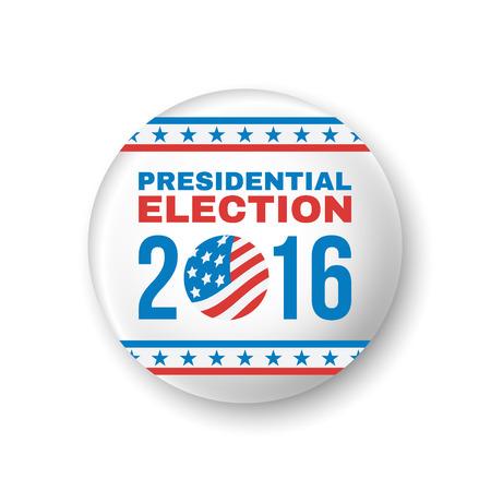 presidential: Badge for Presidential Election 2016. Vector illustration