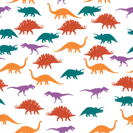 ascendant: Colorful Dinosaurus Seamles Pattern Background. Vector illustration