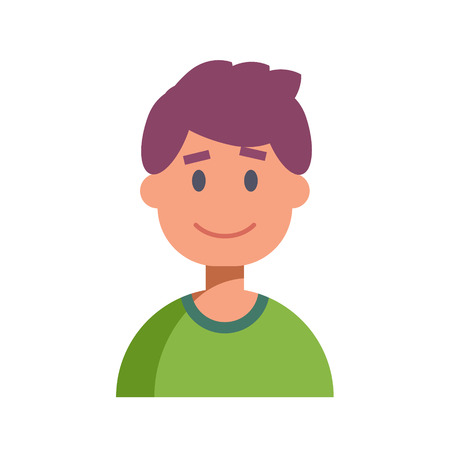 userpic: Flat Design Male Character Icon. Vector illustration