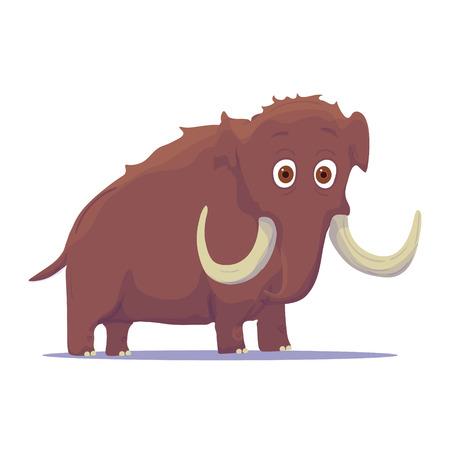 woolly: Cartoon Indian Elephant isolated on white background. Vector illustration Stock Photo