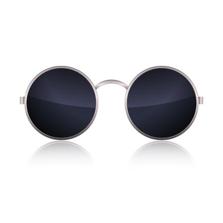eyewear: Round Glasses isolated on white background. Vector illustration