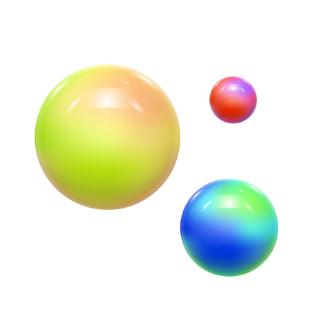 Abstract Colorful Balls or Spheres. Vector illustration Illustration