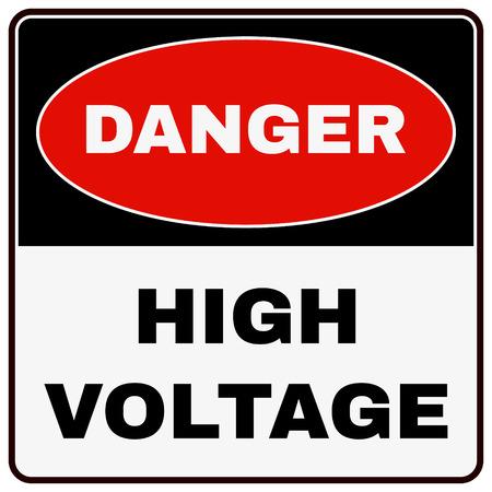 voltage danger: High Voltage Danger Sign. Stock Vector illustration Illustration