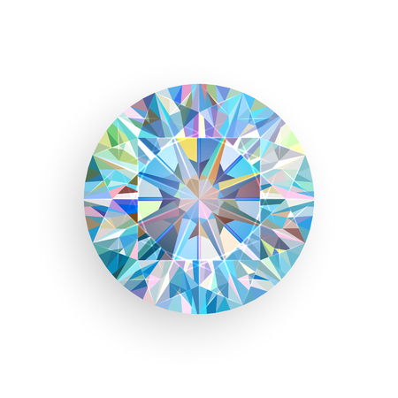 Diamond isolated on white background. Vector illustration