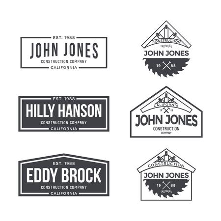 Bouwbedrijf Etiket en Badges. Vector