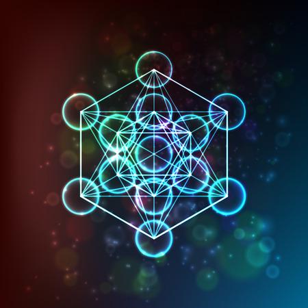 Flower of Life. Sacred Geometry. Symbol of Harmony and Balance. Vector illustration