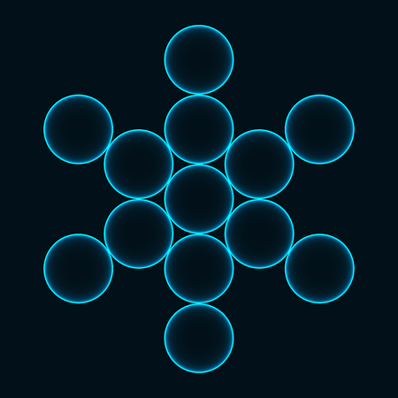 Flower of Life. Sacred Geometry. Symbol of Harmony and Balance. Vector illustration Illustration