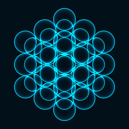 Flower of Life. Sacred Geometry. Symbol of Harmony and Balance. Vector illustration Stock Vector - 85714037
