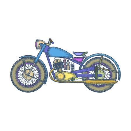Vintage Motorcycle design template for bike shop or motorcycle service icon.