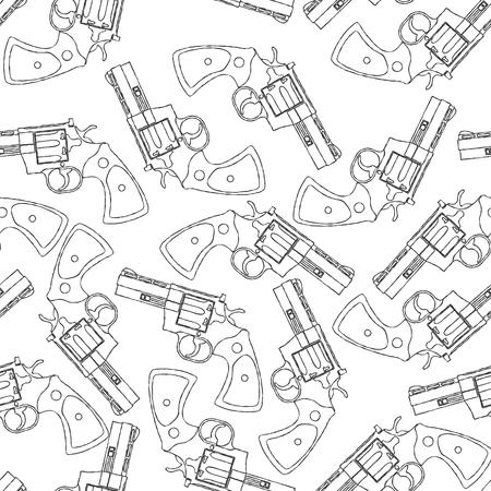 vintage riffle: Vintage gun pattern.
