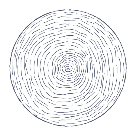 Hand Drawn Circle with Lines. Vector illustration