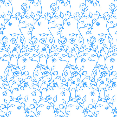 Colorful Floral Background Seamless Pattern. Vector illustration