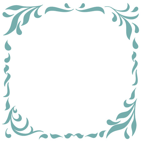 Floral Frame for design of monograms, invitations, frames, menus, labels and websites. Graphic elements for design of catalogs and brochures of cafes, boutiques. Vector illustration
