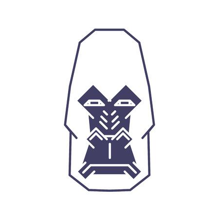 Abstract Gorilla Head lineart on White Backround. Vector illustration