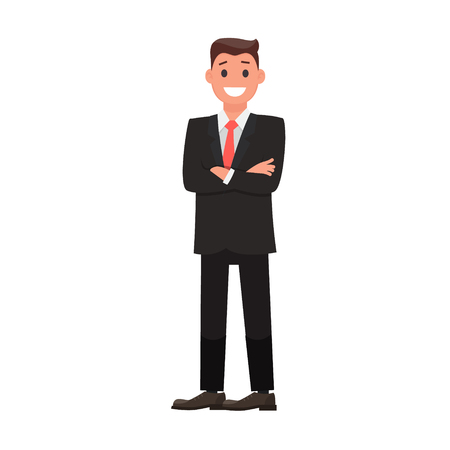 Colorful Flat Design Character Businessman. Vector illustration
