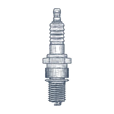 Spark Plug design template. Illustration