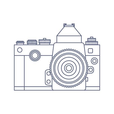 Vintage Old Photo Camera design template. Stock Photo