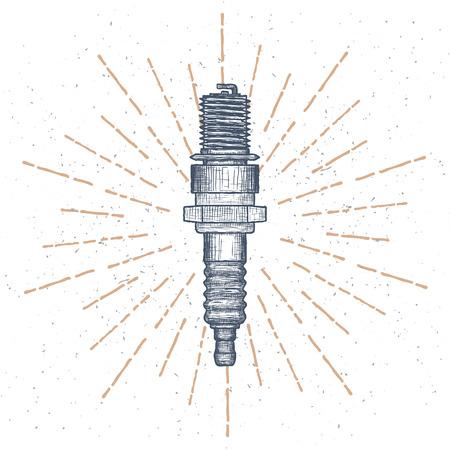 Spark Plug design template. Auto parts or Car service icon.