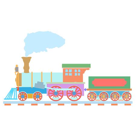 Vintage Steam locomotive design template. train or transport icon.