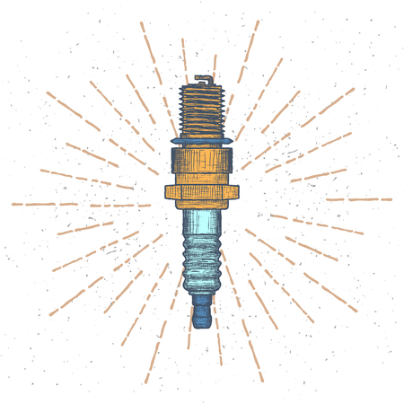 Spark Plug design template. Autoparts or Car service icon. Illustration