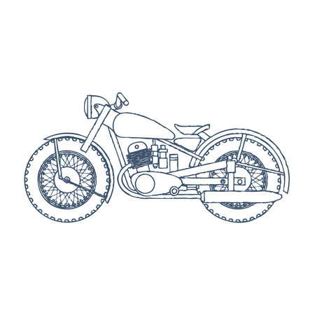 Vintage Motorcycle design template.