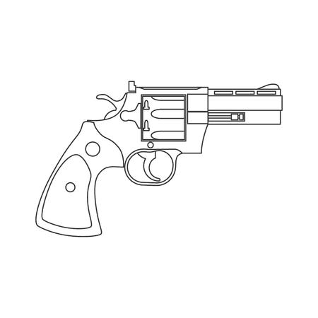 Vintage Revolver Gun. Firearm, pistol.