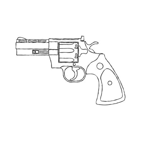 Vintage Revolver Gun.