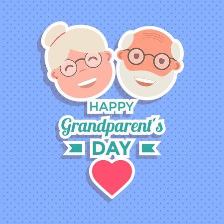Abstrakter glücklicher Großeltern-Tageshintergrund. Vektor-Illustration