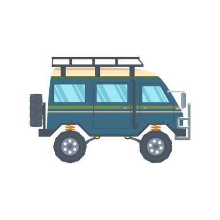 Off-road Vehicle Van with mud tire. Vector Banque d'images - 133234341