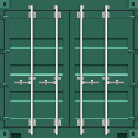 Cargo Containers Doors Colorful Background.
