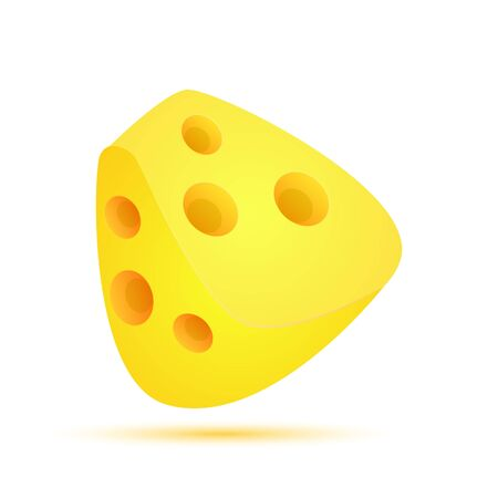 Cheese Flat Design Modern Style Colorful isolated on White Background. Vector Illusztráció