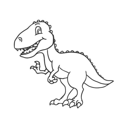 Cute Cartoon Dinosaur - T-rex tyrannosaurus rex. vector illustration Ilustração