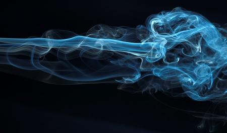 Zusammenfassung Rauch Serie 10: isoliert auf schwarz Standard-Bild - 11122458
