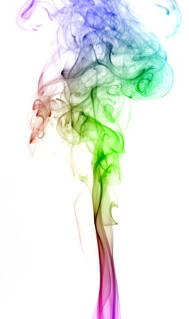 Abstract smoke series, isolated on white