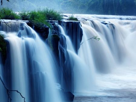 Tad-Pa Suam Wasserfall, Champasak Provinz, Süd-Laos. Standard-Bild - 11122504