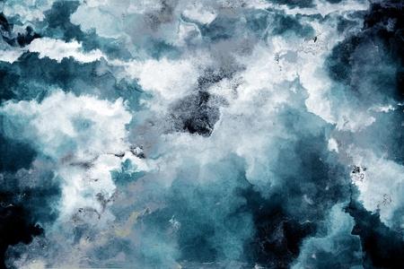 Grunge blauen Wand Hintergrund Standard-Bild - 11413360