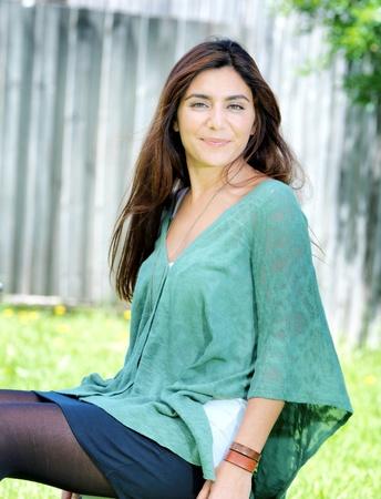Portrait einer jungen Frau lächelnd Standard-Bild - 11413551