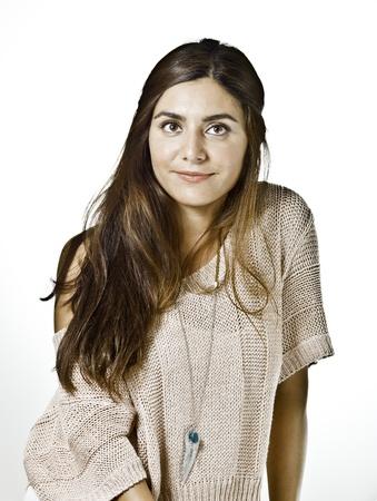 Portrait einer jungen Frau lächelnd Standard-Bild - 11413552