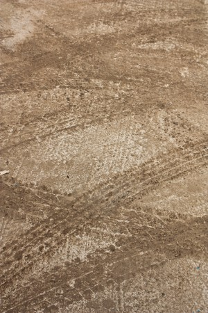 Wheel line on concrete road Stock Photo - 8036060