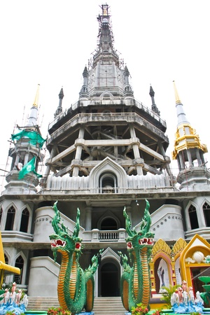 Buddhism architecturewith god of snake Tiger temple Krabi Thailand Stock Photo - 14560261