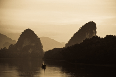 Morning at Krabi river Thailand photo