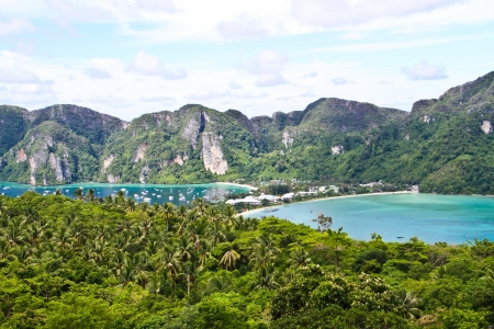 View point of Phi Phi island bay