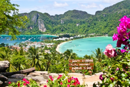 Phi Phi island view point on the mountain Editorial