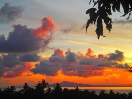 Ocean sunrise at Phi phi island photo