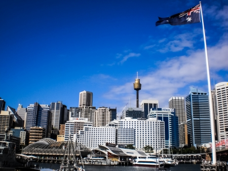 sand harbor: Darling Harbour di Sydney Editoriali