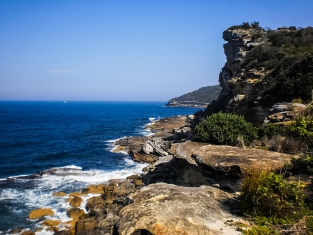 Rock mountain with blue sea Stock Photo - 14950828