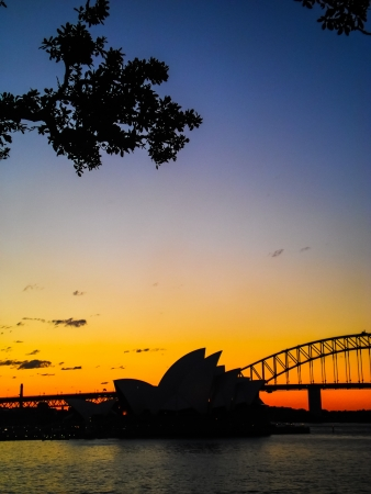 sydney opera house with the evening sun light Stock Photo - 15625417