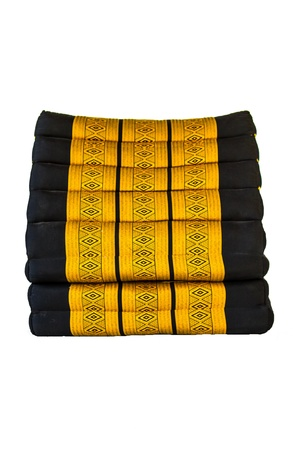 black and gold thai style seating pillow Stock Photo - 17441263