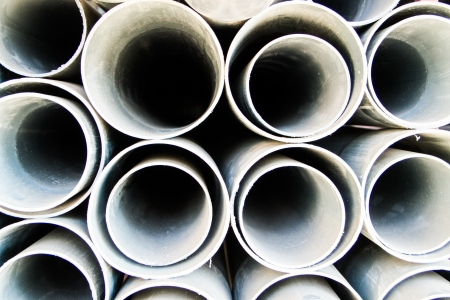 round PVC pipe ready for sale in shop photo